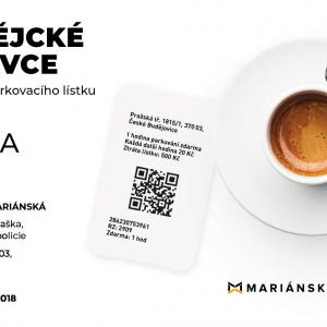 Káva zdarma k parkovacímu lístku