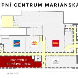 Obchodní prostor k pronájmu o rozloze 399 m² – ihned k dispozici